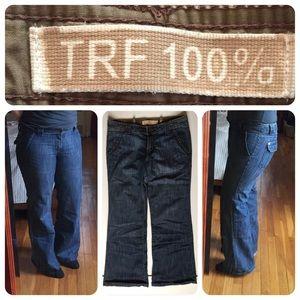 Zara bootcut jeans cool denim style